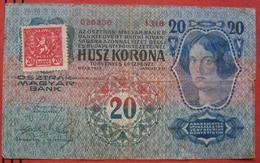 Husz / 20 Korona 1913 - 20 Haleru (WPM 2) - Tschechoslowakei