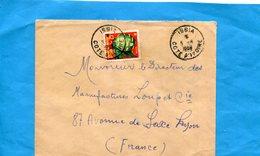 Marcophilie-lettre Cote D'ivoire>Françe-cad-ISSIA-1959- StampN°69 Flower-adenopus - Cameroon (1960-...)