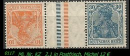 Postfrischer ZDR - Mi. Nr. KZ 2.1 - Zusammendrucke