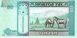 MONGOLI Billet  10 Mohro Tugrik - Cheval Horse Animal - Mongolie