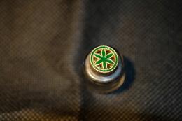 """Pin's-"""" Corolla A 6 Petali Verdi""""la Foto Non Rende La Vera Bellezza Dello Stemma Distintivo-Integro E Completo- - Pin's"""
