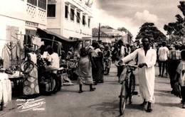 CPA - DAHOMEY - COTONOU - Rue De La Lagune Marché - Dahomey