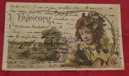 Meilleurs Souhaits Françoise :::: Prénoms :::: Portrait - Enfant - Fleurs   ---------- 500 - Firstnames