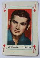 Ancienne Carte à Jouer Acteur Américain Jeff Chandler Valet De Carreau Jeu De Cartes - Merchandising