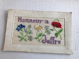 Carte Brodée Honneur à Joffre - Bestickt