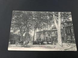 681 - LAVELANET Bureau De La Societé Generale Et Promenade De L'Allée - 1917 - 9e Hussard Secteur 193 - Lavelanet