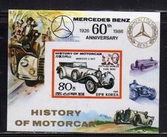 SOUTH KOREA COREA DEL SUD 1986 IMPERFORATED HISTORY OF MOTORCAR MERCEDES BENZ BLOCK SHEET BLOCCO FOGLIETTO MNH - Corea Del Sud