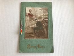 Carte De Bonne Année Avec Poésie Et Couple De 1918 - Guerre 1914-18