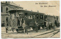 RC 12668 LOZÈRE 48 FLORAC UN BON SOUVENIR TRAIN TRES BEAU PLAN - Florac