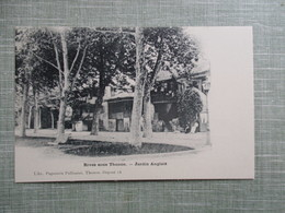 CPA 74  RIVES SOUS THONON JARDIN ANGLAIS - Thonon-les-Bains