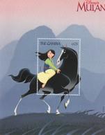 """Gambia, Disney  """" Mulan """" Sheet MNH Yvert N. 376/79 - Disney"""