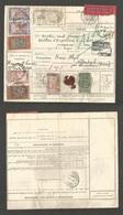 TUNISIA. 1926 (5 Feb) Bab - Buenara - Switzerland, Wintherthur (17 Feb) Registered Value Declared Postal Package Receipt - Tunisia