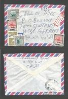 SUDAN. 1986. Local Multifkd SG. Registered Envelope. Airmail Mixed Issue. - Sudan (1954-...)
