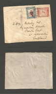 "MALAYSIA. 1941 (25 Nov) North Borneo, Jesselton - England, Crown East. Fkd Front Of Cover, Incl War Tax +  ""North Borneo - Malaysia (1964-...)"