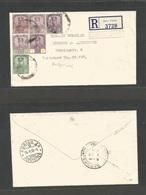 MALAYSIA. 1938 (30 Jan) Johore. Batu Pahat - Switzerland, Zurich (26 Feb) Via Singapore (1 Feb) Registered Multifkd Enve - Malaysia (1964-...)