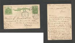 HAITI. 1903 (15 April) DWI. Port Au Prince - France, Paris (14-15 May). Via St. Thomas, DW (26 April) And Le Haure. 3c G - Haiti