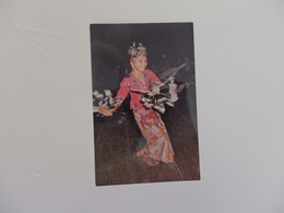 Malaysia, Kayan Girl Of A Longhouse, Dancing At Night.Postée De Kutching Sur Bornéo. - Malaysia