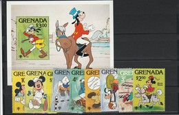 Grenada, Disney  Set E Sheet  MNH  Yvert N. 866/74  - Bf N.81 - Disney