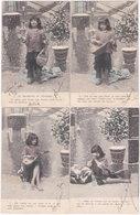 LA MENDIANTE DU PANTHEON. 4 Cartes - Cartes Postales