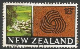 New Zealand. 1967-70 Definitives. 18c Used. SG 875 - New Zealand