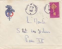 LETTRE . 1968. POSTE AUX ARMEES - Poststempel (Briefe)