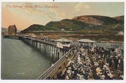 CPA PAYS DE GALLES The Pier And Happy Valley  LLANDUDNO - Pays De Galles