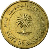 Monnaie, Bahrain, 10 Fils, 1992/AH1412, TTB, Laiton, KM:17 - Bahrein