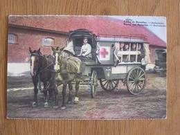 BEVERLOO  Ambulantie Ambulance Service Médical Chevaux Animée Caserne Militaire Limburg Limbourg Belgique Carte Postale - Beringen