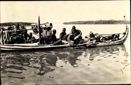 Cp Tschad, Ligne Du Hoggar, Lac Tchad, Le Kadei, Pirogue En Papyrus - Cameroon