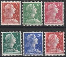 Année 1955/59 - N° 1009A à 1011C - Marianne De Muller - Série 6 Valeurs - Neufs Cote 10 € - 1955- Marianne De Muller