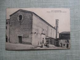 CPA ITALIE SAN GIMIGNANO CHIESA DI S.AGOSTINO - Italie