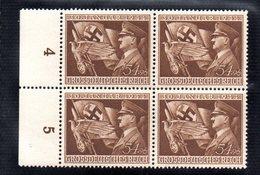 QUS - GERMANIA TERZO REICH 1944 , N. 784  In Quartina Integra  *** NSDAP - Germany