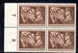 QUS - GERMANIA TERZO REICH 1944 , N. 784  In Quartina Integra  *** NSDAP - Nuevos