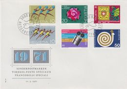 Switzerland 1971 Commemoratives 6v FDC (42773) - FDC