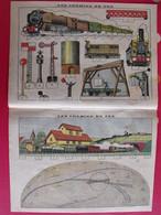 Découpage Diorama à Construire. Les Chemins De Fer. Train Gare Locomotive Signaux. Vers 1930 - Vieux Papiers