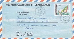 NOUVELLE CALEDONIE ET DEPENDANCES  - AEROGRAMME N° 9 55F - NOUMEA 2.5.1984   / 2 - Luftpost