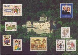 Liechtenstein Postcard Castle Vaduz + FL Stamps Unused (42775) - Zonder Classificatie