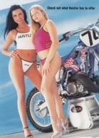Hustler Magazine Advertisement, Pin-up Women In Bikinis, Motorcycle C2000s Vintage GoCard Rack Postcard - Advertising