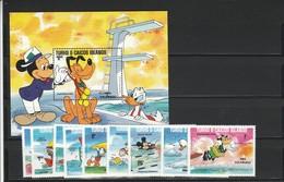Turks Et Caicos Islands, Disney  - Set E Shet MNH Anno 1984 - Disney