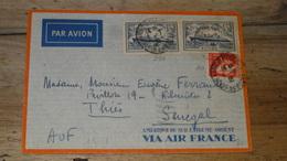Enveloppe PAR AVION Pour Le SENEGAL En 1935 Par AIR FRANCE .............. T45 - Marcophilie (Lettres)