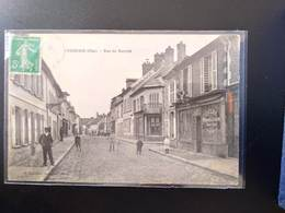 CPA. (60) VERBERIE.  Rue Du Marché. Animation.             (G.013) - Verberie