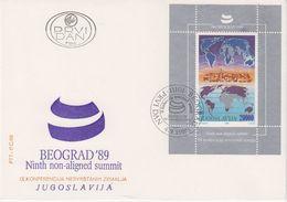 Yugoslavia 1989 Non-ligned Summit M/s FDC (42776) - FDC