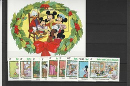 Turks Et Caicos Islands, Disney  - Set E Shet MNH Anno 1982 - Disney