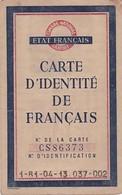 CARTE D IDENTITE DE FRANCAIS 1944 / BOUCHES DU RHONE / LA FARE LES OLIVIERS / IMBERT GABRIEL - 1939-45