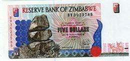 Billet Réserve Banque Du Zimbabwe 5 Dollars, 1994-2001 - Daté 1997 Neuf - - Zimbabwe