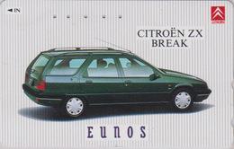 Télécarte Japon / 110-011 - VOITURE FRANCE -  CITROEN ZX BREAK ** EUNOS ** - CAR Japan Phonecard  - AUTO TK - 3293 - Voitures