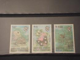 BRITISH OCEAN INDIAN - 1973 FAUNA 3 VALORI - NUOVI(++) - Stamps