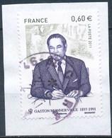 France - Gaston Monnerville YT 4628 Obl. Cachet Rond Sur Fragment - Oblitérés