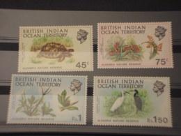 BRITISH OCEAN INDIAN - 1971  FAUNA 4 VALORI - NUOVI(++) - Stamps