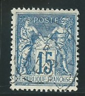 FRANCE: Obl., N° YT 101, Bleu, T.II, TB - 1898-1900 Sage (Type III)